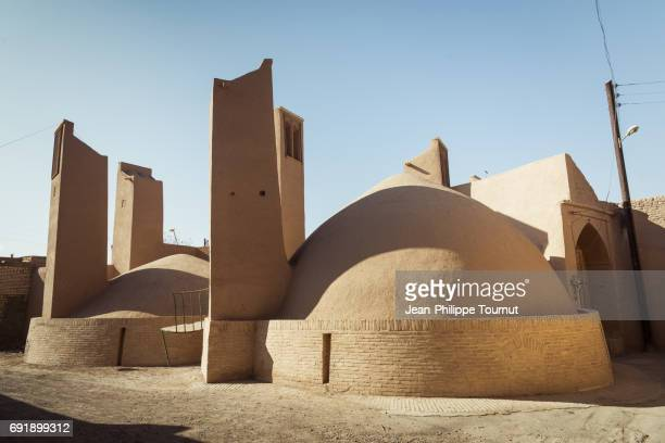 Traditional wind towers and water reservoirs in Meybod, Yazd Province, Central Iran