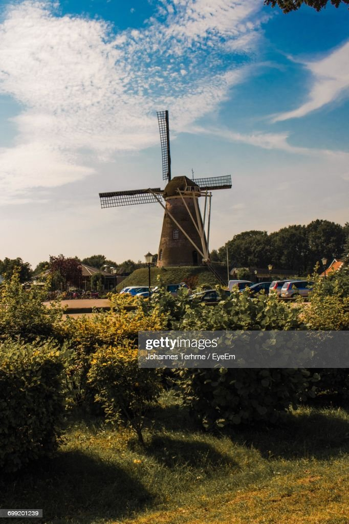 Traditional Windmill Against Sky : Stock Photo