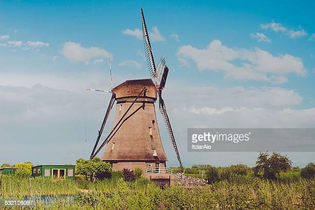 Traditional windmill, Kinderdijk, Holland