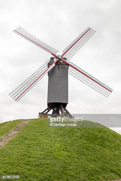 Traditional windmill on a hill