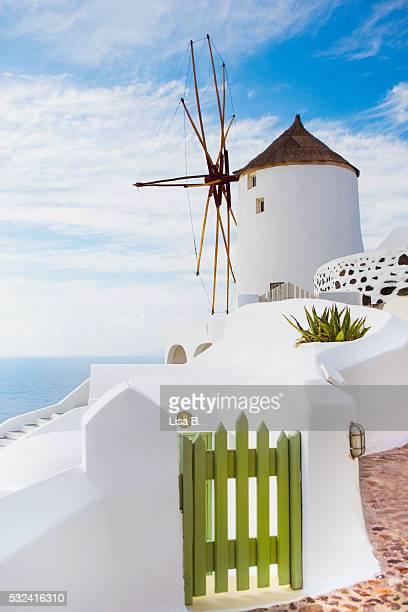 Traditional windmill, Santorini, Cyclades, Greece