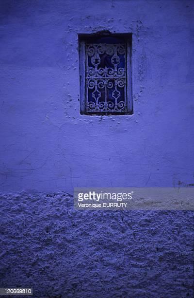 Traditional window in Chefchaouen Rif Morroco