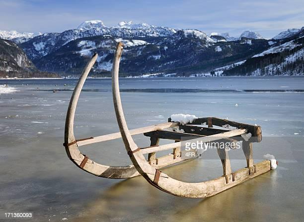 Traditional Winter Sled, Lake Grundlsee, Austrian Alps (XXXL)