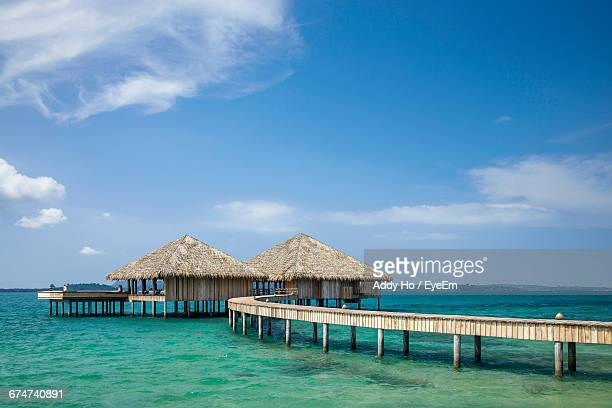 Traditional Wooden Bungalows In Maldives