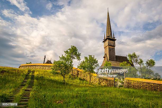 Traditional wooden church from Maramures, Romania