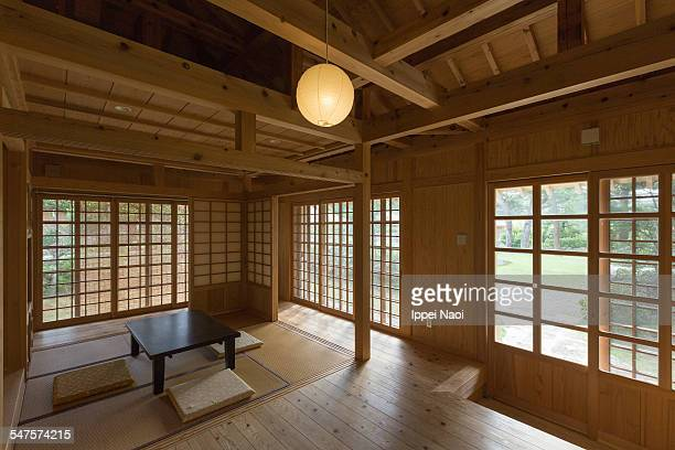 Traditional wooden house interior, Okinawa, Japan