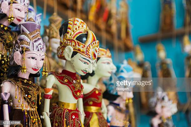 traditional wooden puppets yogyakarta java indonesia culture storytelling - puppet stock pictures, royalty-free photos & images