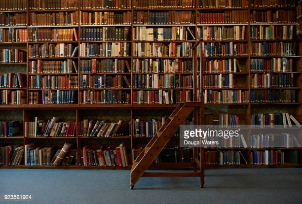 traditional wooden steps in vintage library. - history stock pictures, royalty-free photos & images