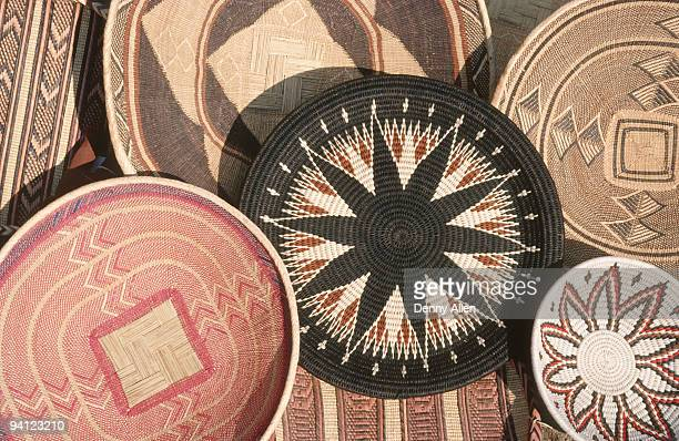 Traditional woven basket craft, Zimbabwe