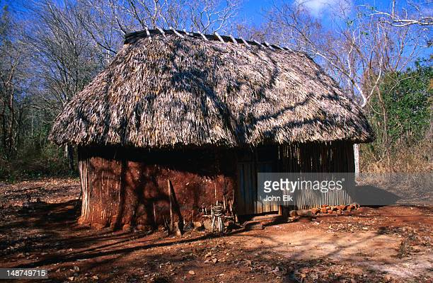 Traditional Yucatan house.