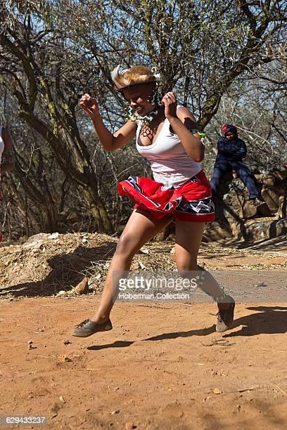 Traditional Zulu Dancers at the Credo Mutwa Cultural Village Soweto Township Johannesburg