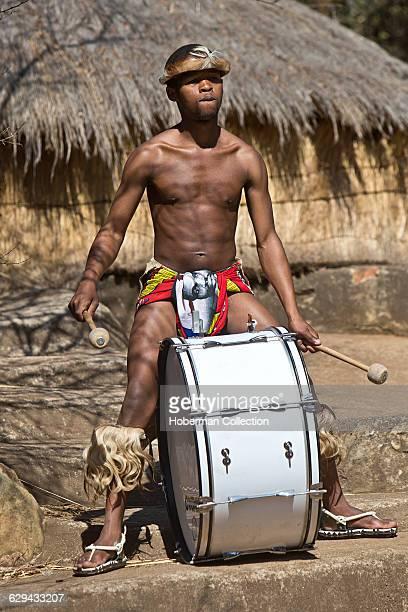 Traditional Zulu Drummer at Credo Mutwa Cultural Village in Soweto Johannesburg