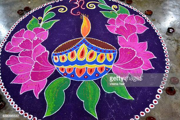 Traditional,colourful Rangoli/Alapana/Kolam