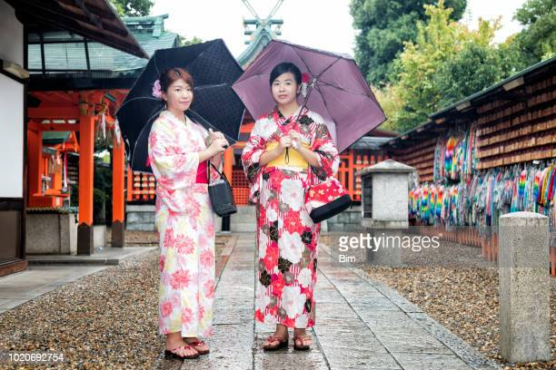 Traditionally Dressed Japanese Women, Kyoto, Japan