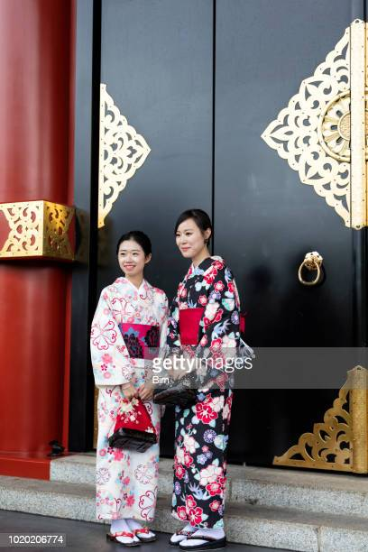 Traditionally Dressed Japanese Women, Tokyo, Japan