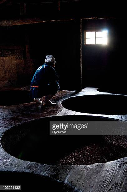 tradition,japanese artisan,soy sauce - soy sauce stock photos and pictures