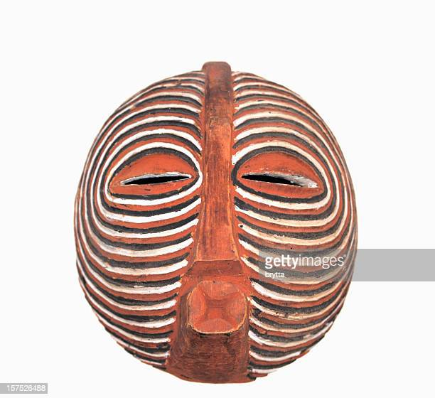 Traditonal African Baluba Kifwebe mask close-up
