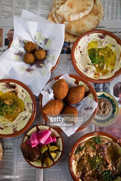 Tradtional lunch  at Muhyeddin Awwad restaurant.