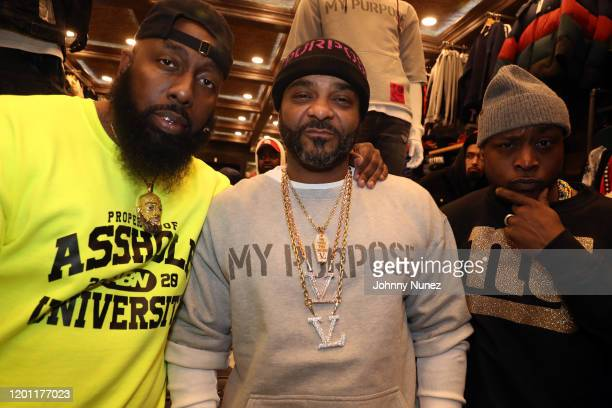 Trae tha Truth Jim, Jones, and Freekey Zekey attend the Jim Jones For PRPS Collaboration event on January 21, 2020 in New York City.