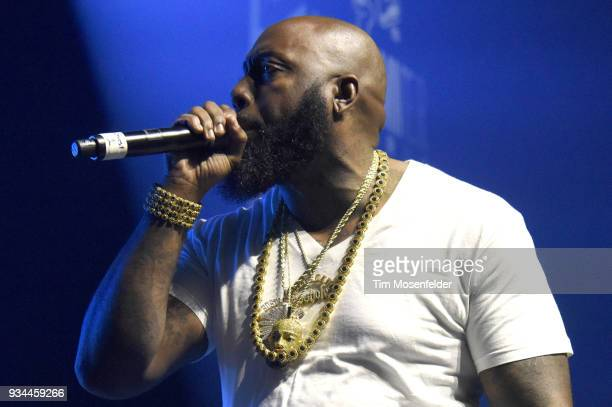 Trae tha Truth performs during the SXSW Takeover Eardummers Takeover at ACL Live at the Moody Theatre during SXSW 2018 on March 16 2018 in Austin...