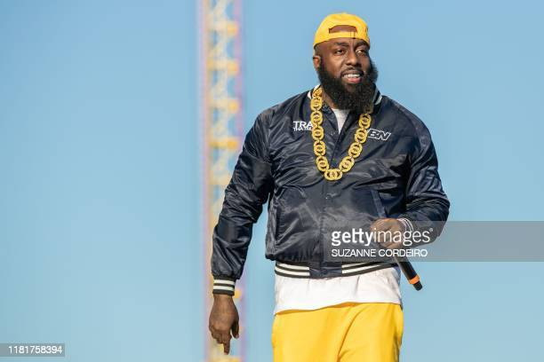 Trae Tha Truth performs in concert during the second annual Astroworld Festival at NRG Park on November 9 2019 in Houston Texas
