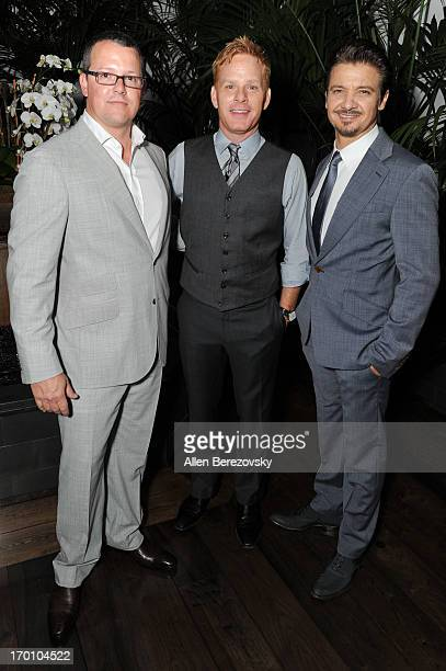 Trae Walker Kristoffer Winters and actor Jeremy Renner celebrate the launch of Robb Report Home Style on June 6 2013 in Los Angeles California