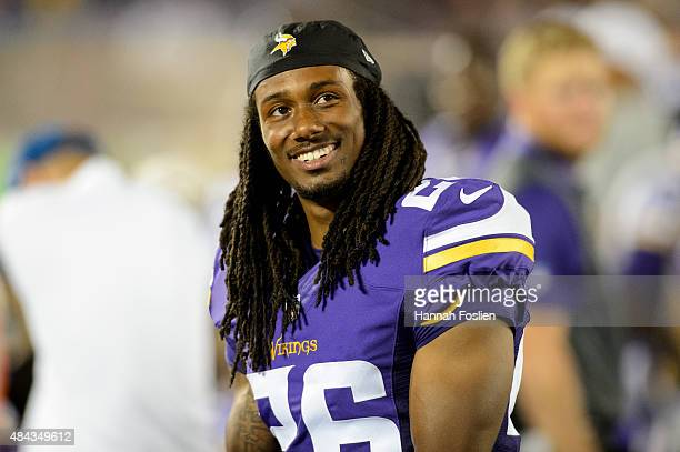 Trae Waynes of the Minnesota Vikings looks on during the preseason game against the Tampa Bay Buccaneers on August 15, 2015 at TCF Bank Stadium in...