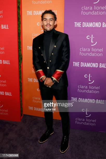 Trae Young attends the 5th Annual Diamond Ball benefiting the Clara Lionel Foundation at Cipriani Wall Street on September 12 2019 in New York City