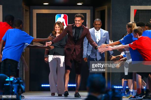 Trae Young is introduced before the 2018 NBA Draft at the Barclays Center on June 21 2018 in the Brooklyn borough of New York City NOTE TO USER User...
