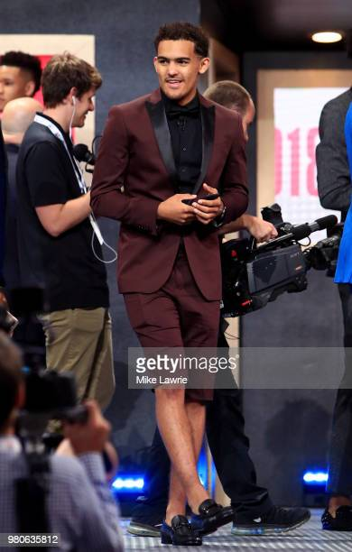 Trae Young looks on before the 2018 NBA Draft at the Barclays Center on June 21 2018 in the Brooklyn borough of New York City NOTE TO USER User...