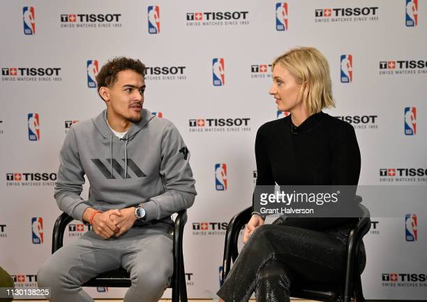 Trae Young of the Atlanta Hawks at the Tissot Style Lounge at the EPICENTRE during NBA AllStar Weekend 2019 on February 16 2019 in Charlotte North...