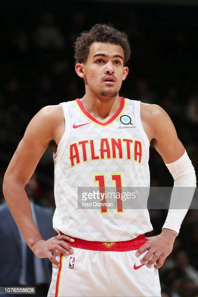 Trae Young of the Atlanta Hawks looks on during the game against the Washington Wizards on January 2 2019 at Capital One Arena in Washington DC NOTE...