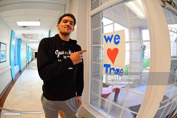 Trae Young of the Atlanta Hawks meets fans during a visit to his hometown of Norman Oklahoma on November 29 2018 NOTE TO USER User expressly...