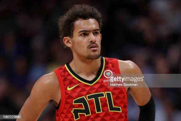 Trae Young of the Atlanta Hawks plays the Denver Nuggets at the Pepsi Center on November 15 2018 in Denver Colorado NOTE TO USER User expressly...