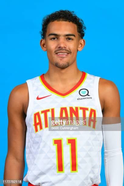 Trae Young of the Atlanta Hawks poses for a head shot during Media Day on September 30 2019 at Emory Sports Medicine Complex in Atlanta Georgia NOTE...