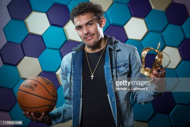 Trae Young of the Atlanta Hawks poses for a portrait during the 2019 NBA AllStar circuit on February 15 2019 at the Sheraton Hotel in Charlotte North...