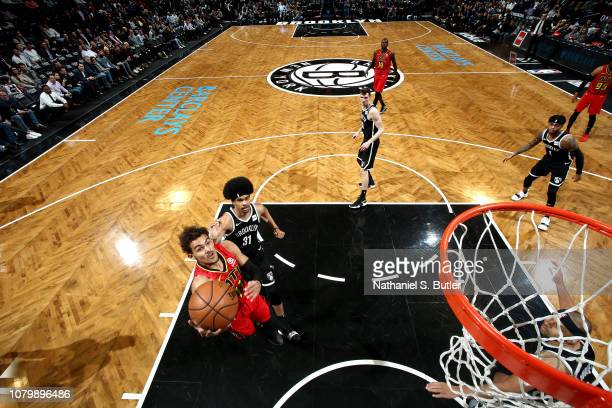 Trae Young of the Atlanta Hawks shoots the ball against the Brooklyn Nets on January 9 2019 at Barclays Center in New York City New York NOTE TO USER...