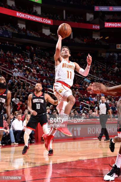 Trae Young of the Atlanta Hawks shoots the ball against the Houston Rockets on February 25 2019 at the Toyota Center in Houston Texas NOTE TO USER...