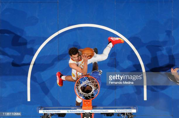 Trae Young of the Atlanta Hawks shoots the ball against the Orlando Magic on April 5 2019 at Amway Center in Orlando Florida NOTE TO USER User...