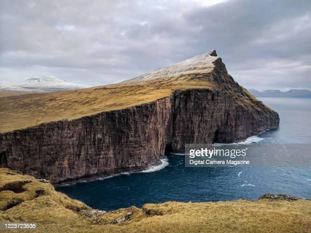 Traelanipa cliff in the Faeroe Islands, on February 19, 2019.