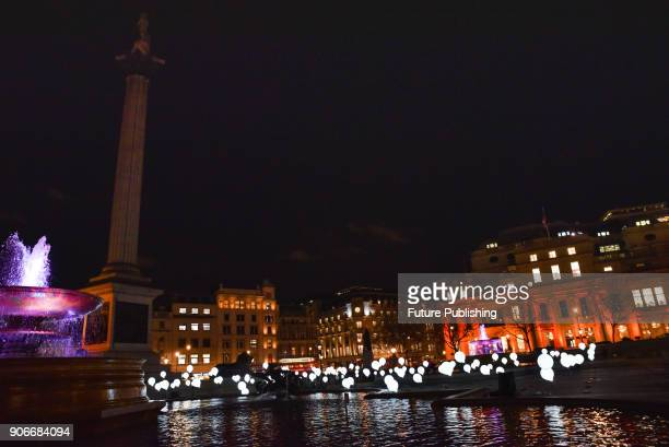 KINGDOM JANUARY Trafalgar Square Child Hood from Collectif Coin coproduced by La Casemate The Lumiere London arts festivalPHOTOGRAPH BY Matthew...