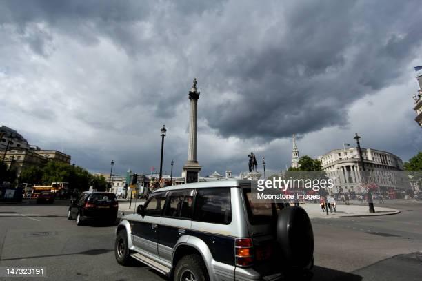 トラファルガー広場(ロンドン,英国 - トラファルガー広場 ストックフォトと画像