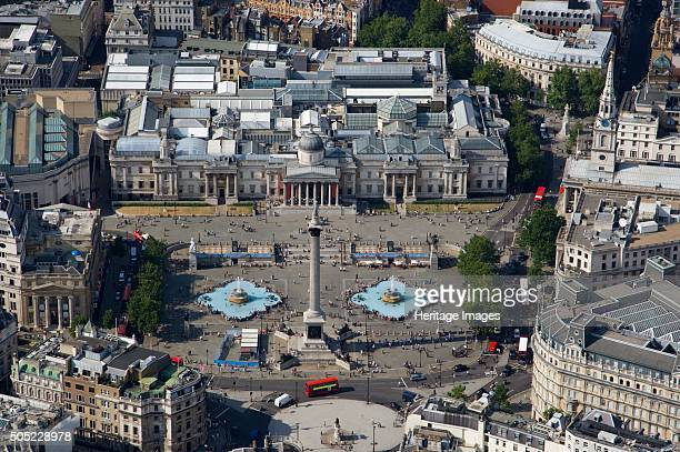 Trafalgar Square, London, 2006. An aerial view of the square showing Nelson's Column and the National Gallery. Artist: Historic England Staff...