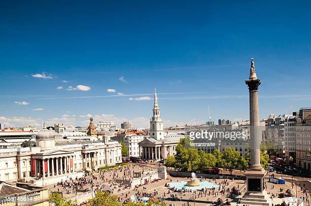 trafalgar square - national gallery london stock pictures, royalty-free photos & images