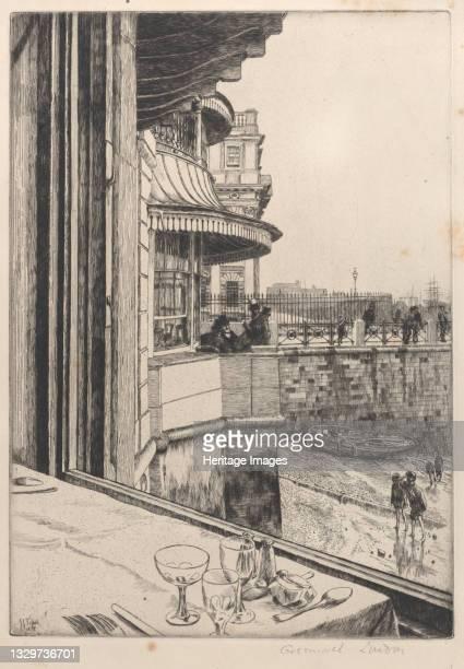 Trafalgar Tavern, Greenwich, 1878. Artist James Tissot.