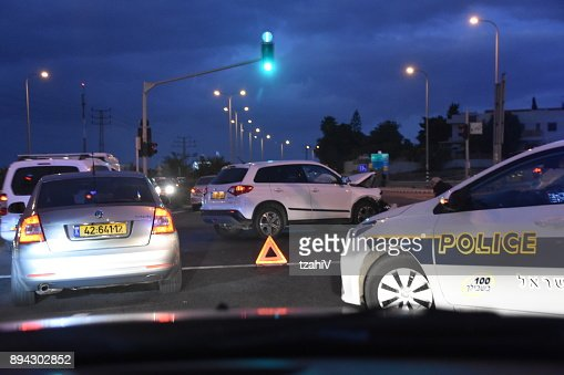 Traffic Accident At Gedera Junction Israel Stock Photo - Getty Images