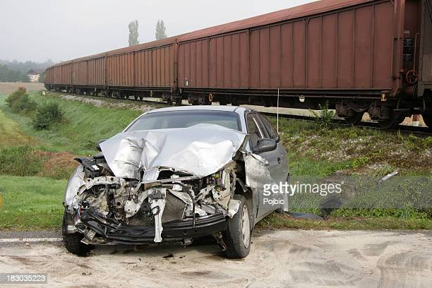traffic accident - railroad crossing stock pictures, royalty-free photos & images