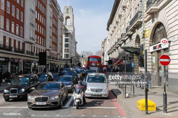 Traffic along Baker Street in London, England
