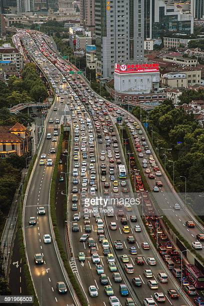 Traffic and buildings in Shanghai