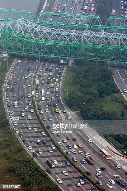 Traffic and cars in Seoul South Korea